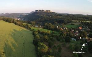 Thürmsdorf - Blick zur Festung Königstein